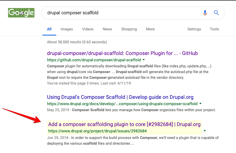 Drupal Issue Chrome