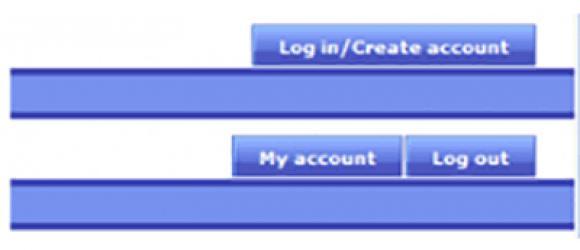 Drupal – Account menu