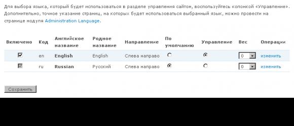 Drupal – Administration Language