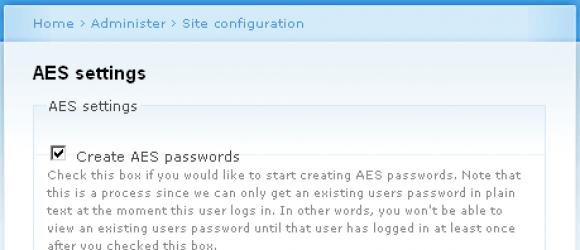Drupal – AES encryption