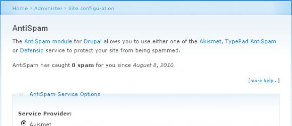 Drupal – AntiSpam