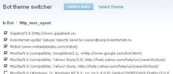 Drupal – Bot theme switcher