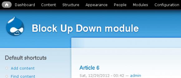 Drupal – Block Up Down