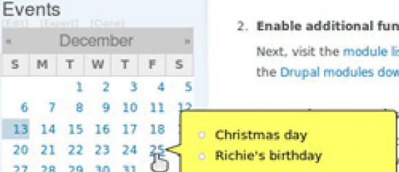 Drupal – Calendar Tooltips