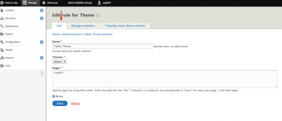 Drupal – Clever Theme Switcher