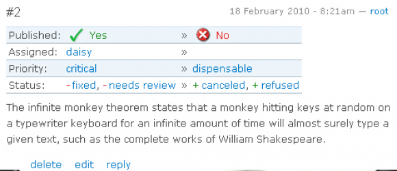 Drupal – Comment driven