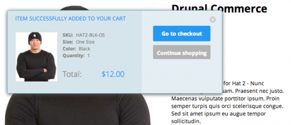 Drupal – Commerce add to cart confirmation