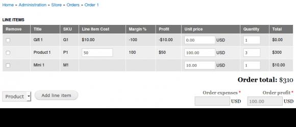 Drupal – Commerce Costs Profits