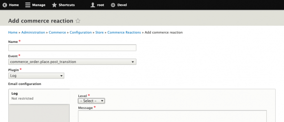 Drupal – Commerce Reactions