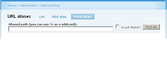 Drupal – Find URL Alias