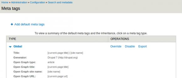 Drupal – Meta tags