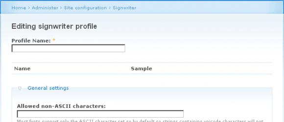 Drupal – Signwriter