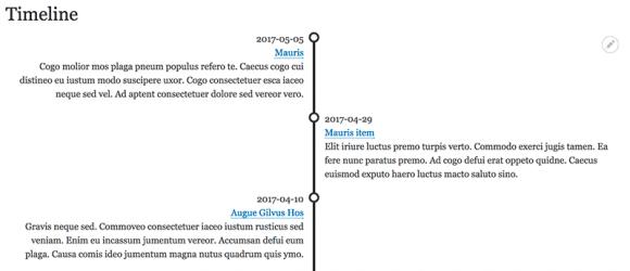 Drupal – A Simple Timeline