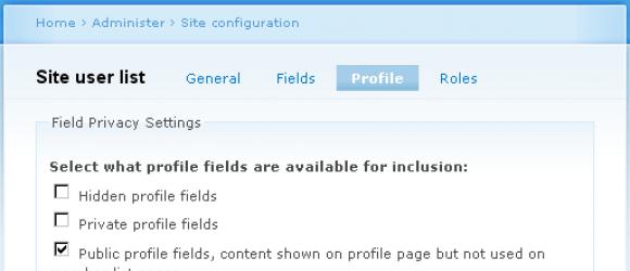 Drupal – Site User List