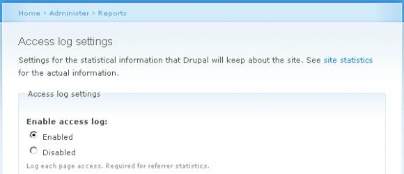 Drupal – Statistics Advanced Settings