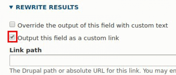 Drupal – Views Link Attributes