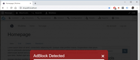 Drupal – AdBlock Detection [anti-AdBlock]