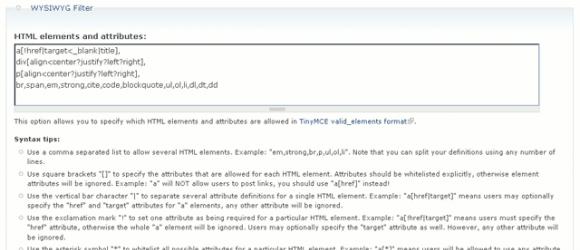 Drupal – WYSIWYG Filter